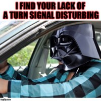 Vader on the way to work