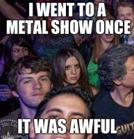 Grumpy Concert Girl