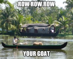 Image tagged in goat boat
