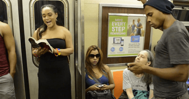 Subway Passengers Get A Broadway Surprise During Their Daily Commute.