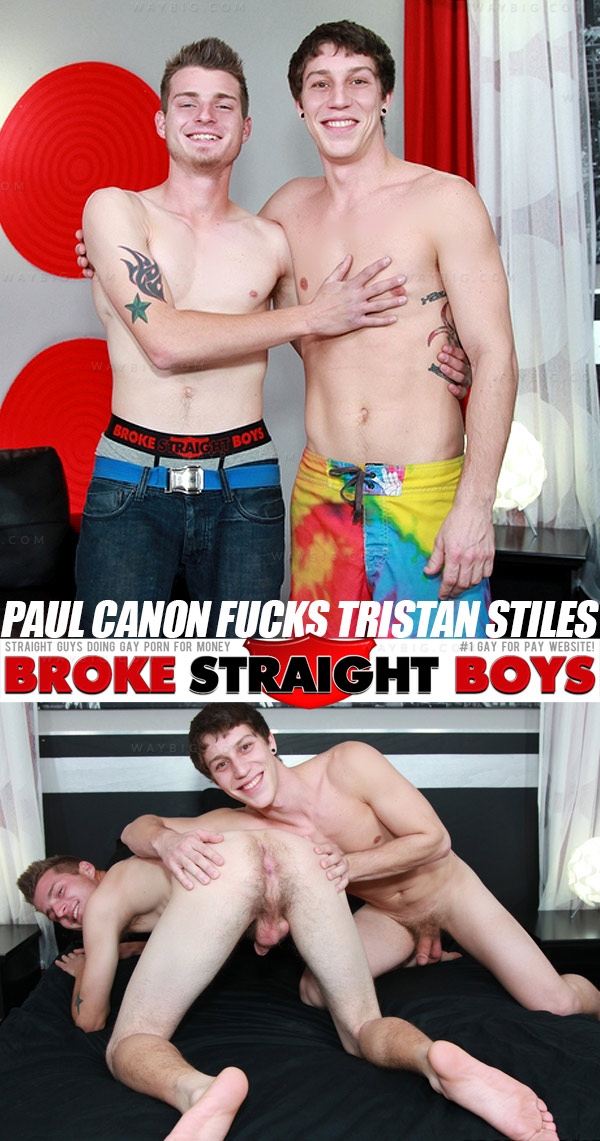 Paul Canon Fucks Tristan Stiles at Broke Straight Boys