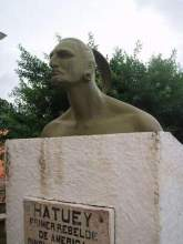 Monument to Hatuey in Baracoa, Cuba.