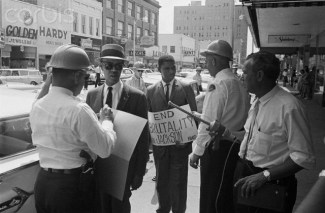 Roy Wilkins and Medgar Evers being arrested on June 1, 1963 in Jackson, Miss. Evers was murdered just 11 days later. Photo: Corbis Images