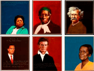 A few of the unsung heroes featured in a lesson available online. Portraits from Americans Who Tell the Truth.