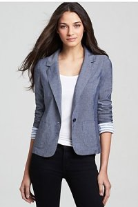 Splendid Chambray Blazer