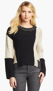 Curio High Low Colorblock Sweater NAS