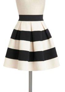 Modcloth Stripe it Lucky Skirt