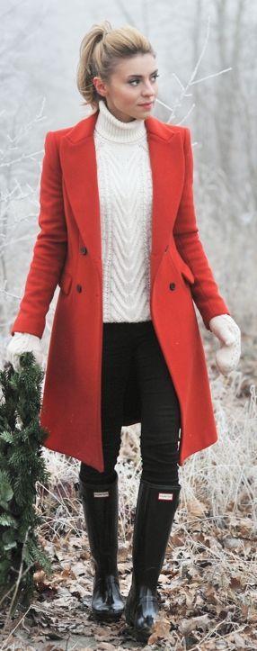 orange colorful coat
