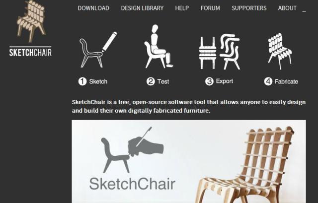 Sketchchair open-source -  już można tworzyć