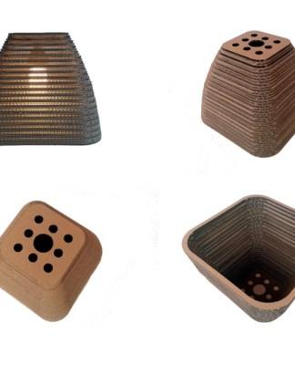 KWADRAT 40 - lampa z kartonu