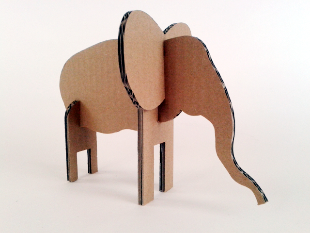 Zabawki z kartonu - Słoń / Cardboard toys -  Elephant