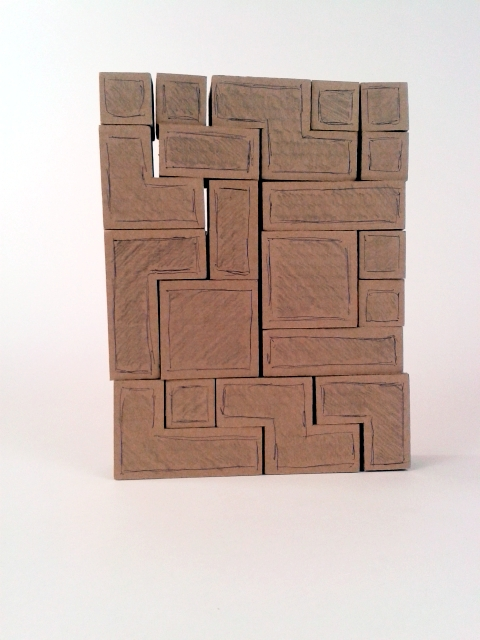 Półki z tektury - Tetris - wersja 01