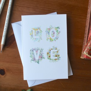 Floral Love Card | Zoeprose shop