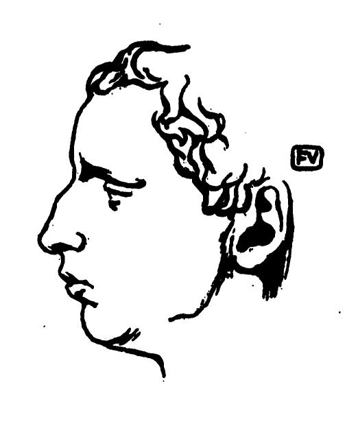 Πορτραίτο του Paul Claudel    Félix Βαλλοτόν    εμφανίστηκε στο The Book of Μάσκες    Remy Gourmont (vol. II, 1898).