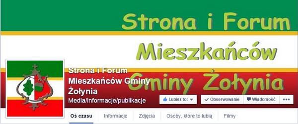 Strona i Forum Mieszkańców Gminy Żołynia na Facebook'u