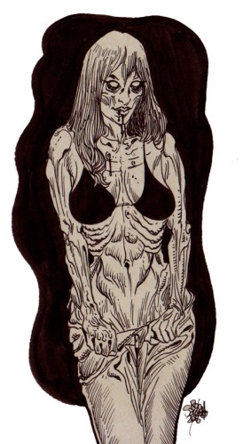 Zombie Art Pinup #208 : Zombie Pinup Cards Zombie Art by Rob Sacchetto