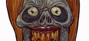 Zombie Art : Grinning Girl Ghoul
