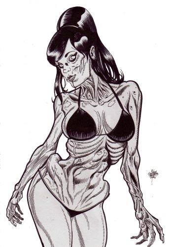 Zombie Art : Zombie Pinup #232 Zombie Art by Rob Sacchetto