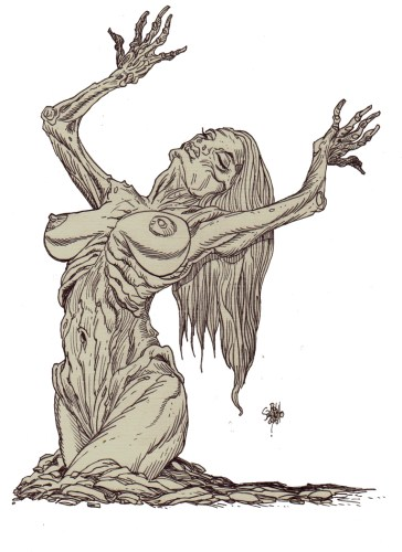 Zombie Art : Pinup Babe #241 Zombie Art by Rob Sacchetto