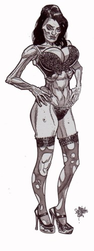 Zombie Art : Zombie Pinup #251 Zombie Art by Rob Sacchetto
