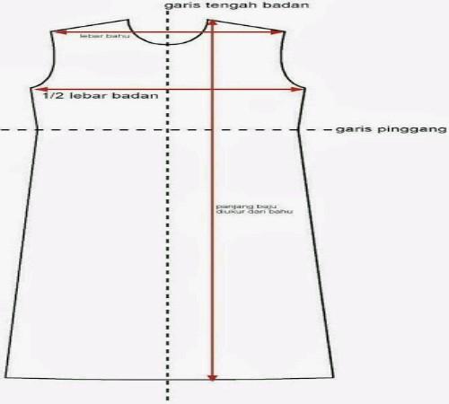Gambar-pola-dress-panjang-sederhana