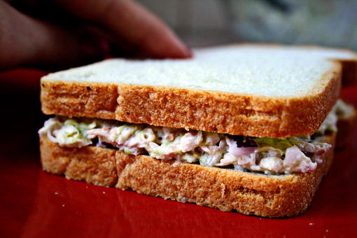 tuna sandwich recipe with step-by-step images