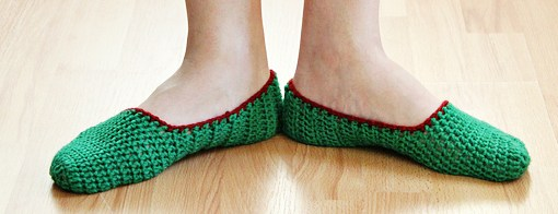 How to make simple crochet slippers 161