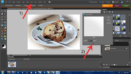 how to create a blurred border in photoshop