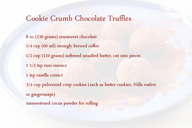 cookie crumb chocolate truffles ingredients