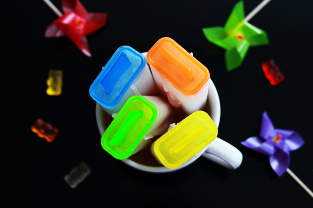 gummy bear and sprite popsicles