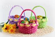 Small Crochet Baskets