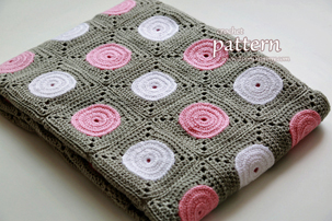Crochet Polka Dot Blanket Pattern