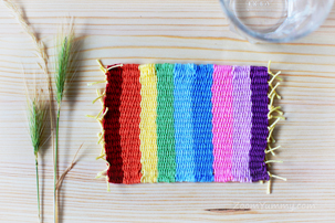 Colorful Woven Coasters DIY (FREE PATTERN!)