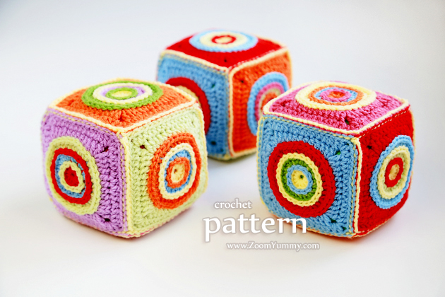 crochet cube soft toy pattern