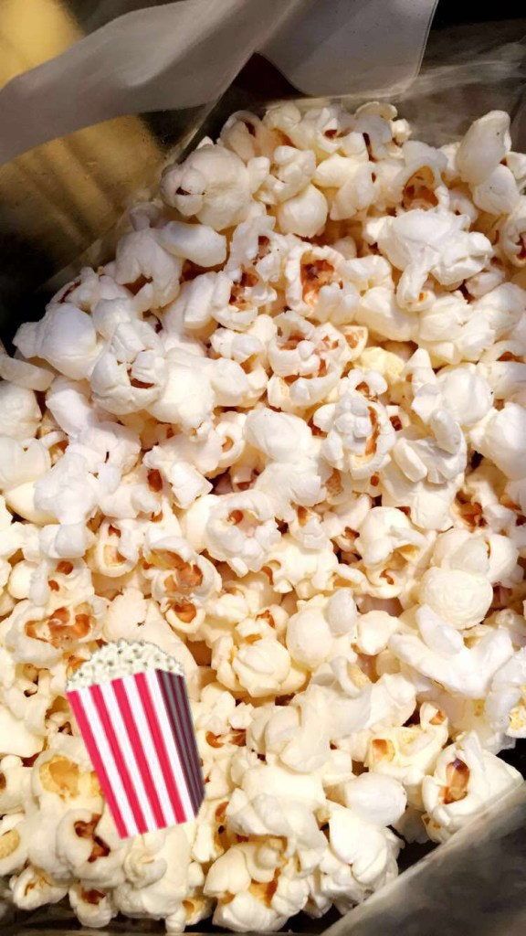 SNACK 2: Hot air popped popcorn with real salt and coconut oil 244 calories, 24 g carbs, 14 g fat, 4 g protein, 0 sugar, 4 g fiber