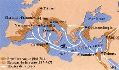 epidemie di peste fra VI e VIII secolo