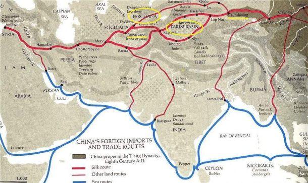 cina e islam rotte commerciali cinesi nell'VIII secolo