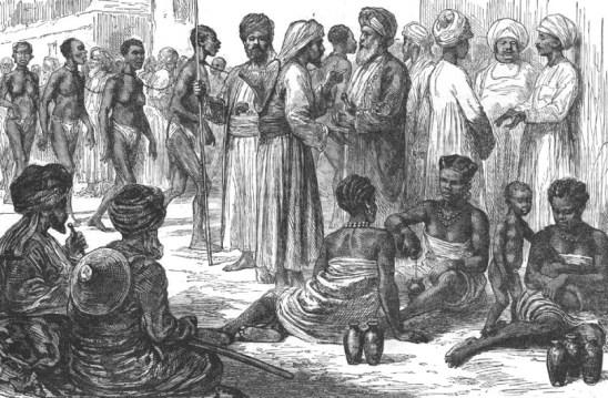 mercato degli schiavi arabo