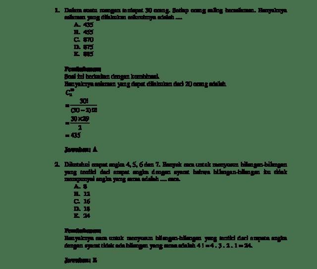 Soal Matematika Peluang Kelas Xi Galih Wijaya Academia Edu