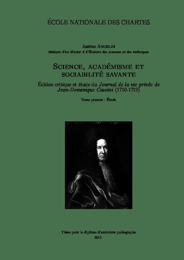 (PDF) Science, académisme et sociabilité savante: édition ...