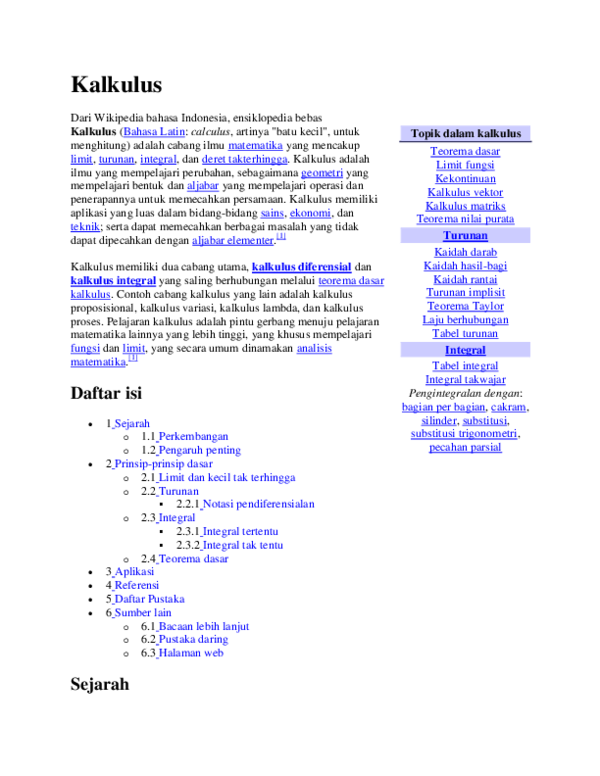 Kategori ini hanya memiliki subkategori berikut. Doc Description Of Calculus Dewi Rini Academia Edu