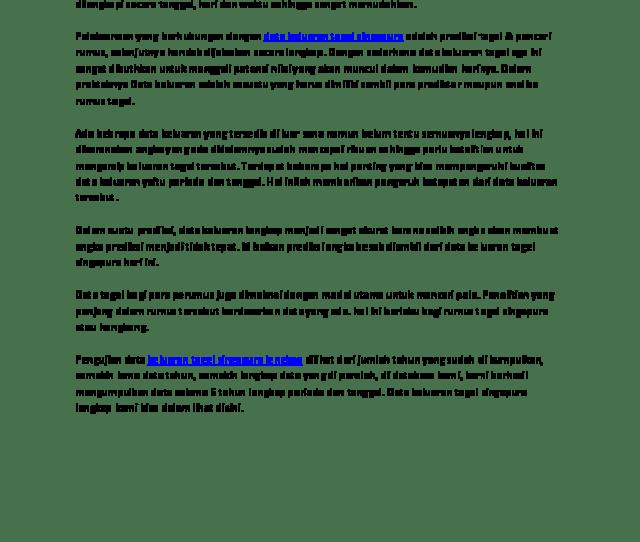 Pdf  Tahun Data Keluaran Togel Singapura Komplit Pdf