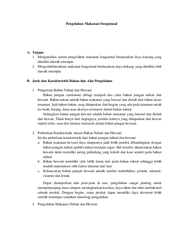 Makanan Fungsional Hewani