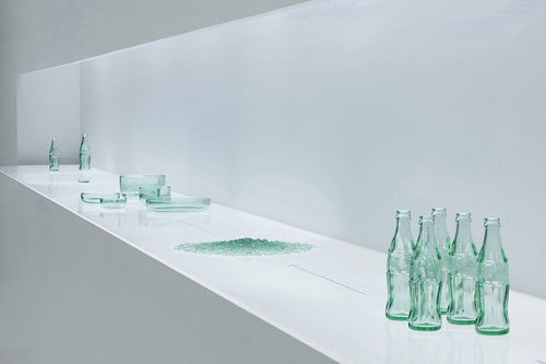 Nendo Tableware Reuses Coca Cola Bottles in home furnishings art Category