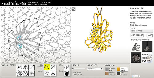 Design Your Own Jewelry with Nervous Systems New Radiolaria App