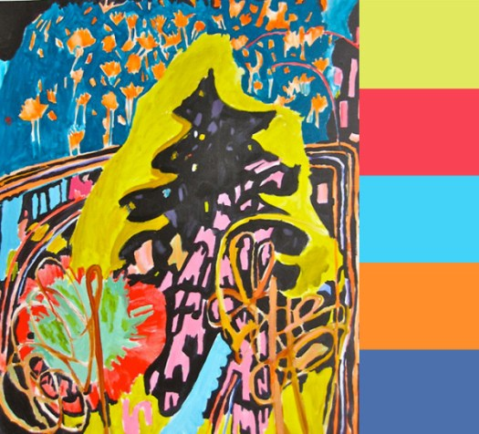 Mary Logan Is Dripping In Color in art Category