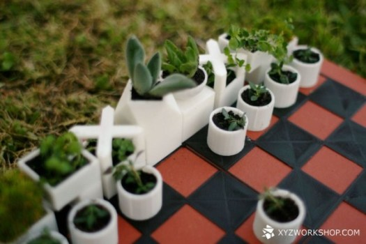 A 3D Printed Chess Set Thats Also a Micro Planter in style fashion home furnishings Category