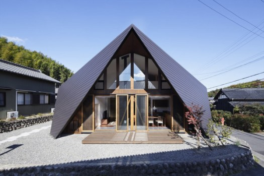 A House with an Origami Like Roof in architecture Category