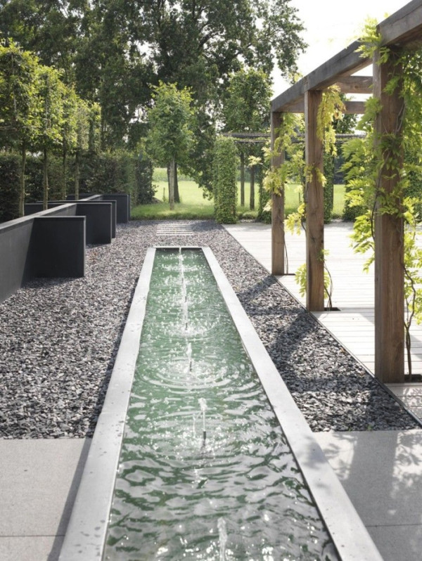 Landscape Design Ideas: Modern Garden Water Features ... on Modern Backyard Water Feature id=43948