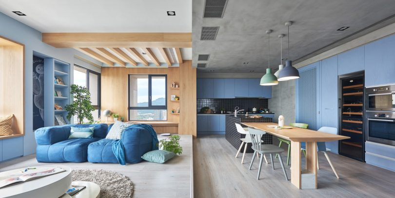 A Playful Apartment in Taiwan for a Modern Family Lifestyle